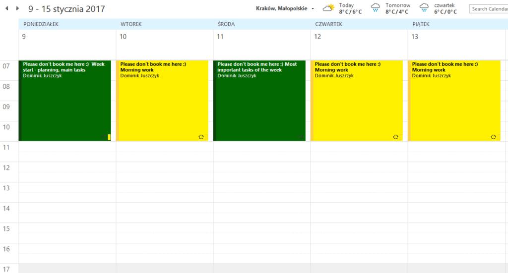 Opanuj swój kalendarz